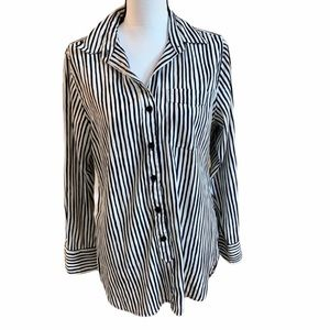 ELLEN TRACY Striped Blouse